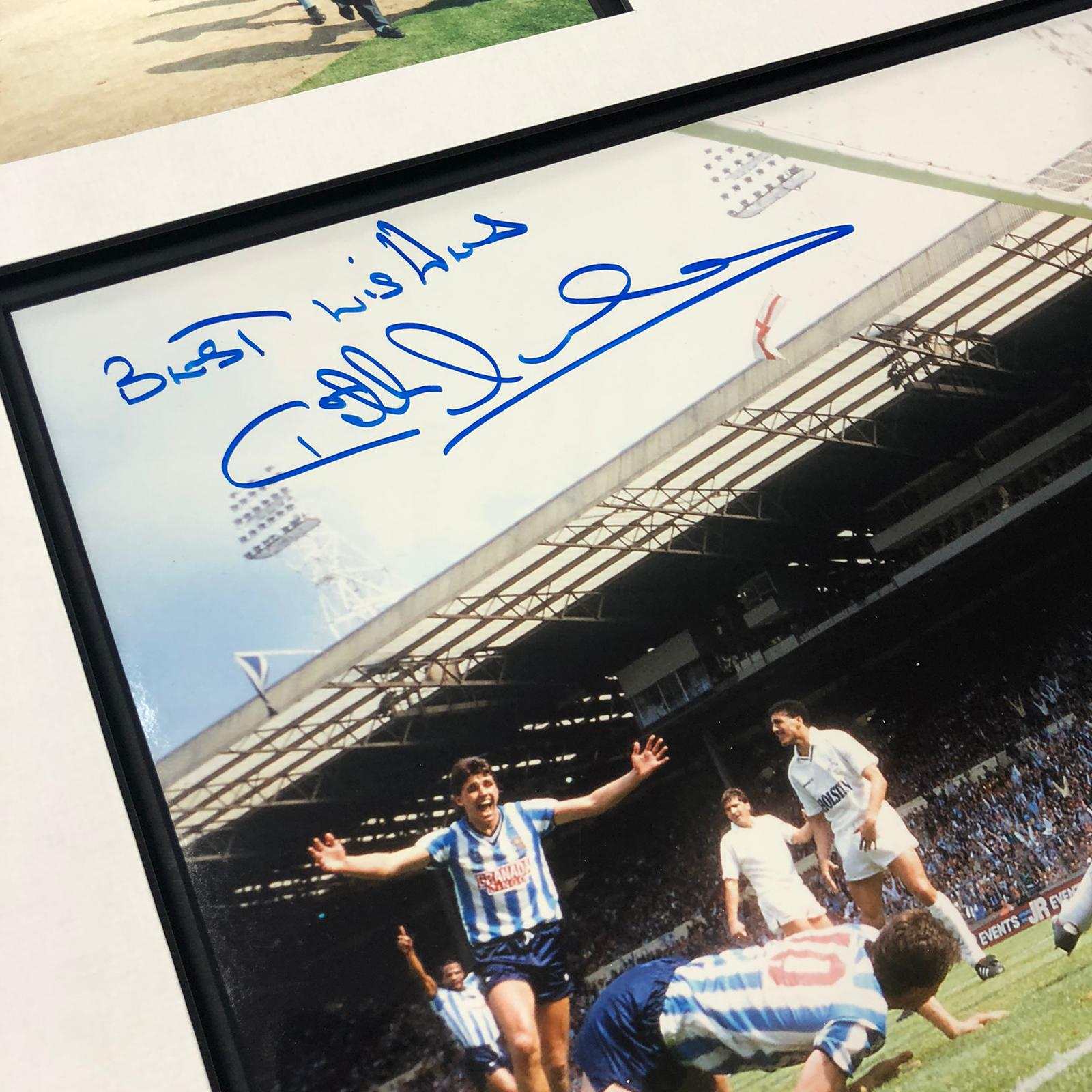 Coventry City 1987 FA Cup Celebration signed by Keith Houchen with COA