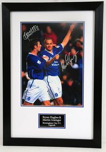Bryan Hughes and Martin Grainger Signed Birmingham City Frame