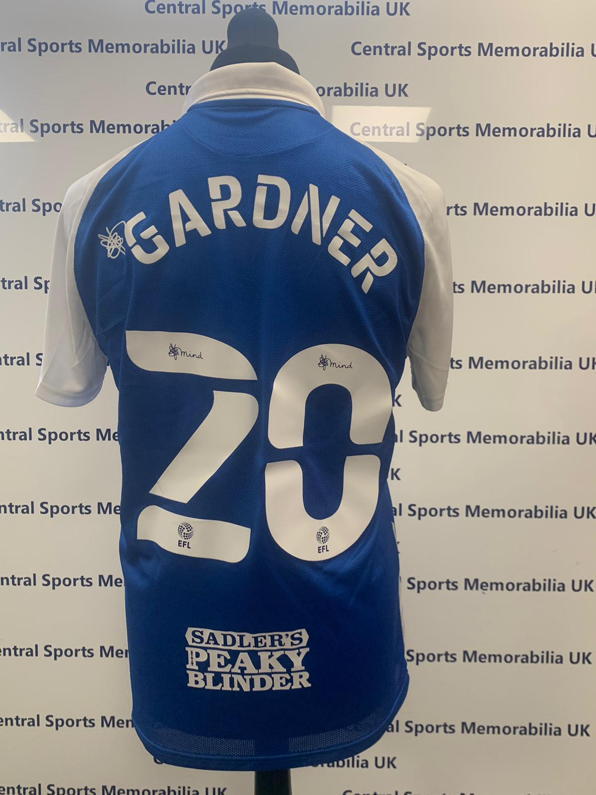Gary Gardner Match Issue Birmingham City Shirt