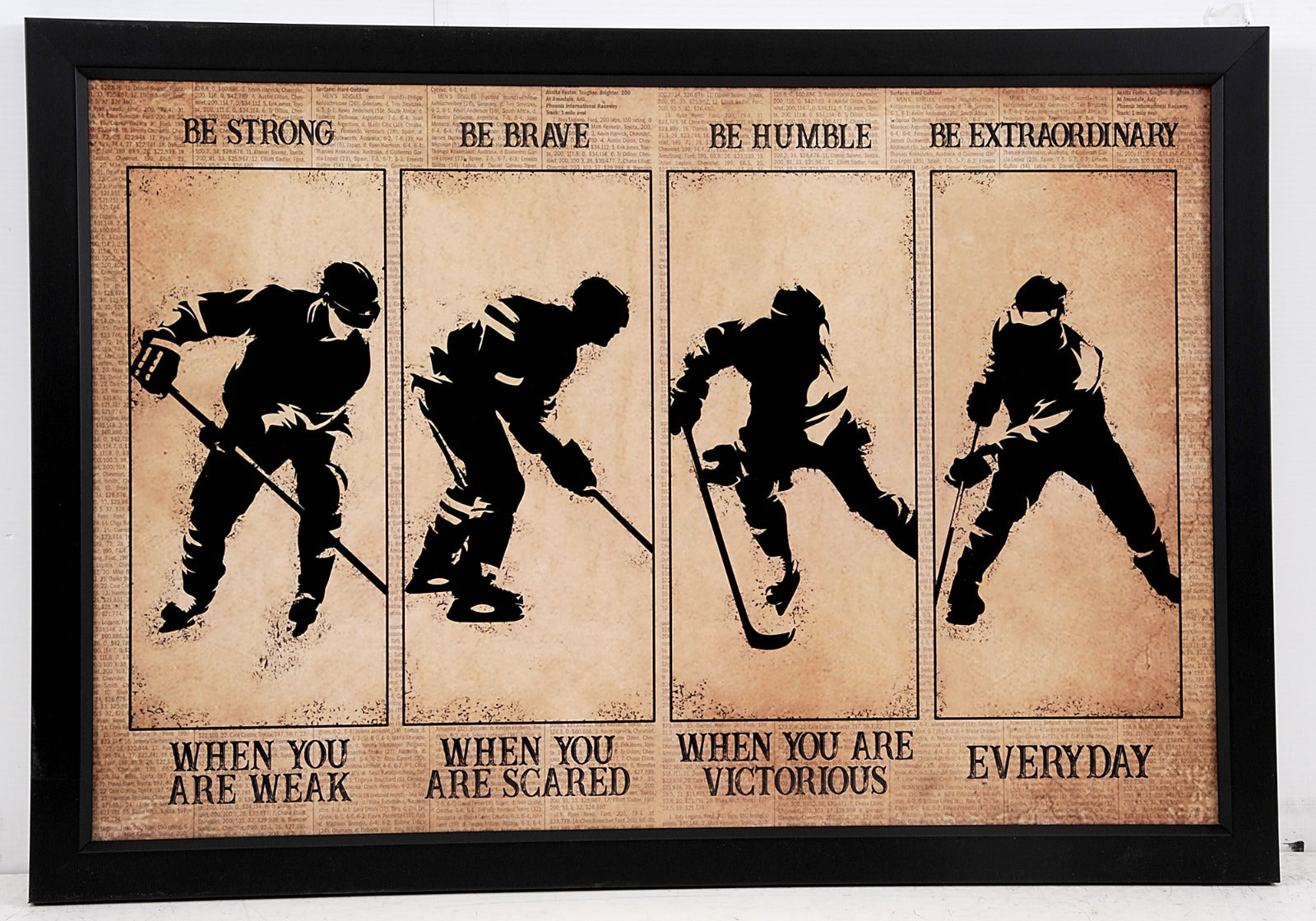 "Ice Hockey Frame ""Be Extraordinary"""