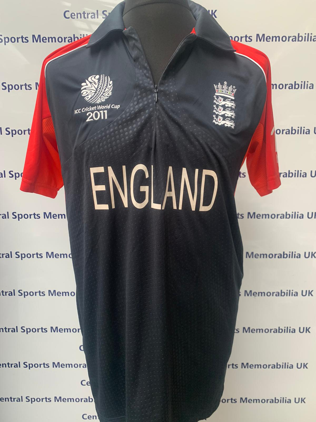 Kevin Pietersen Match Worn Signed England Shirt World Cup 2011