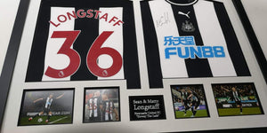 "Sean and Matty Longstaff Newcastle United Signed Frame ""Howay The Lads"""