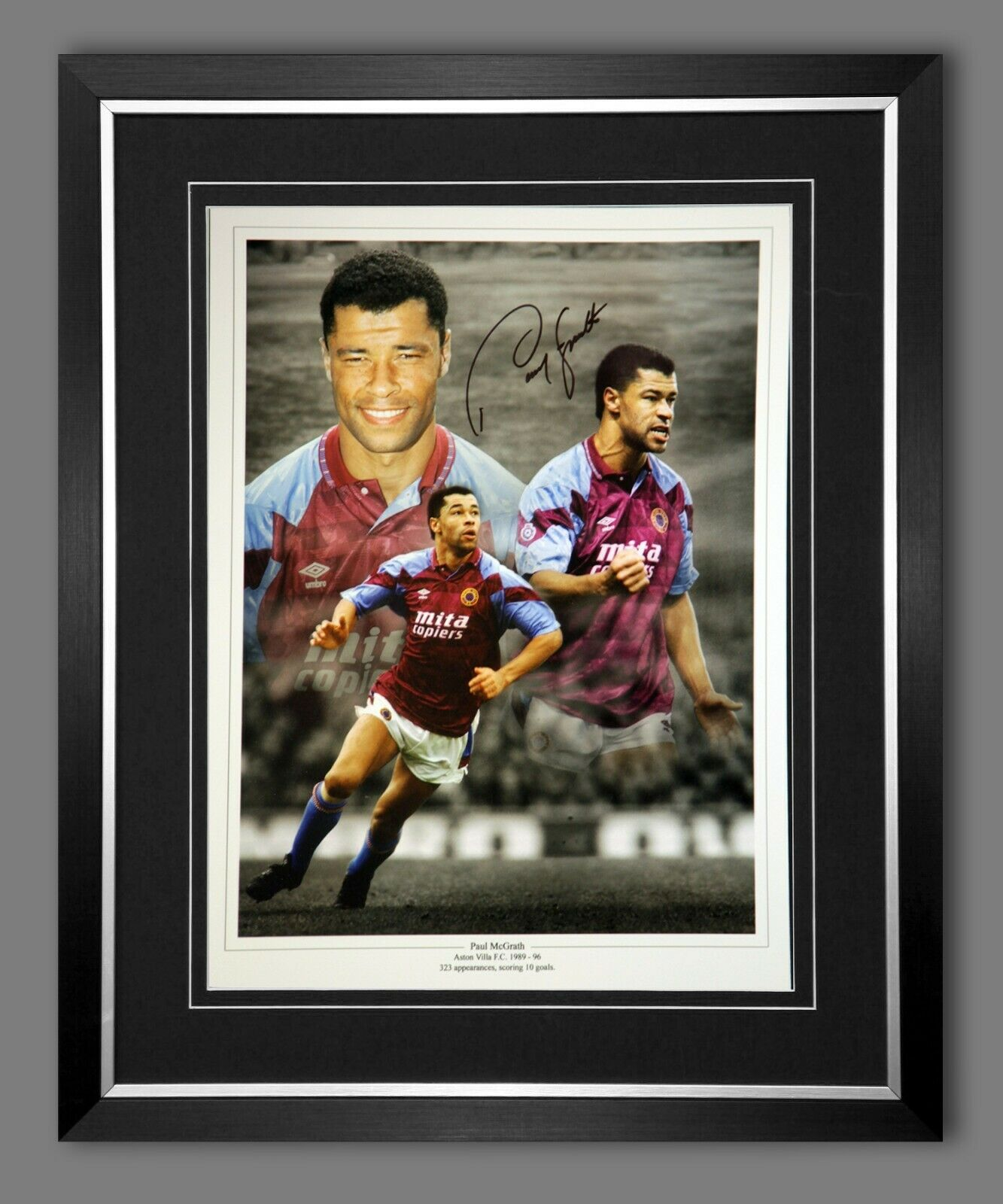 Paul McGrath Aston Villa Signed Frame