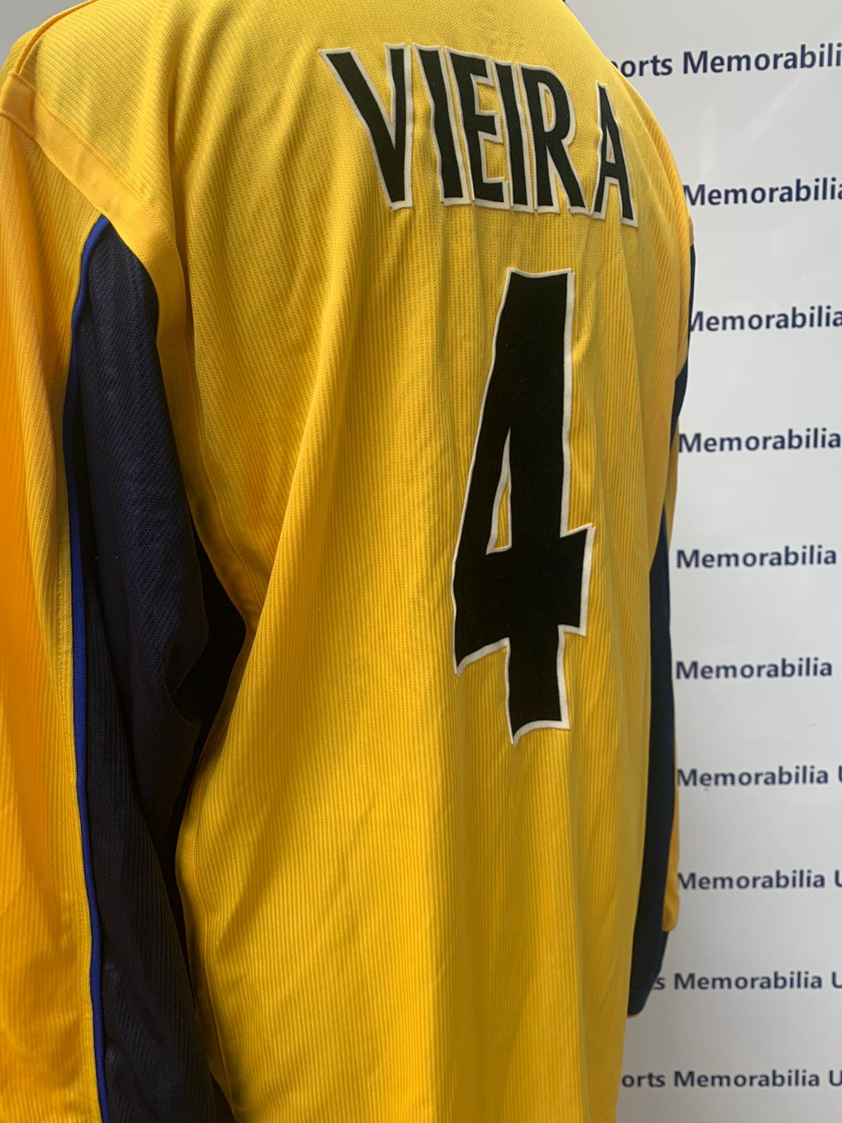 Patrick Vieira Arsenal Champions League Shirt