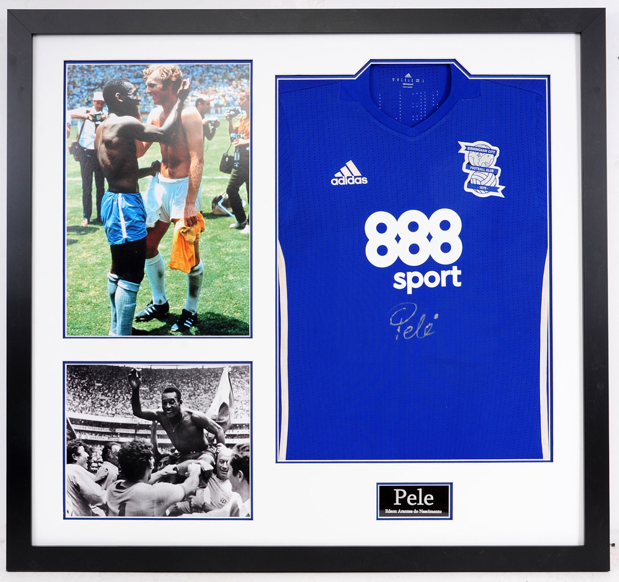 Pele Signed and Framed Birmingham City Shirt - Incredible piece