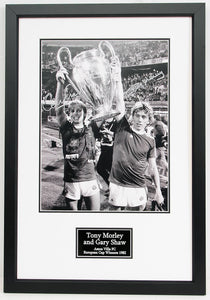 Gary Shaw and Tony Morley Aston Villa European Champions 1982 - Signed Frame