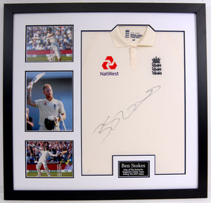 Ben Stokes Signed and Framed England Shirt