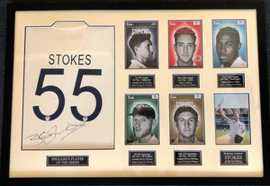 Ben Stokes 2019 England Ashes Player of The Series - Signed Shirt / Frame