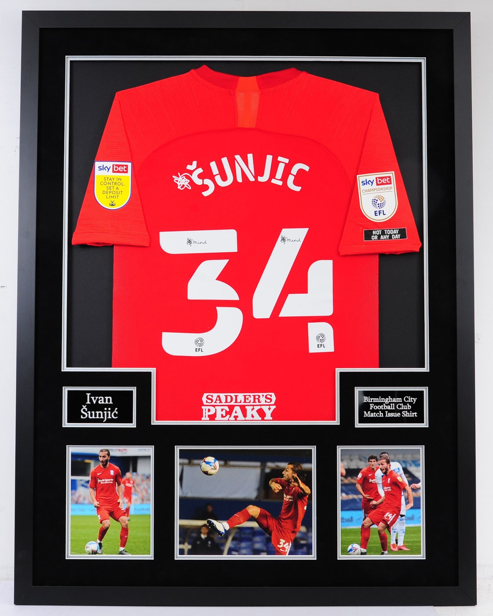 Ivan Sunjic Framed Match Issue Shirt - Buy before Monday for Pre Xmas delivery.