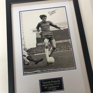 "Trevor Francis Signed Frame - ""The Debut Season"""