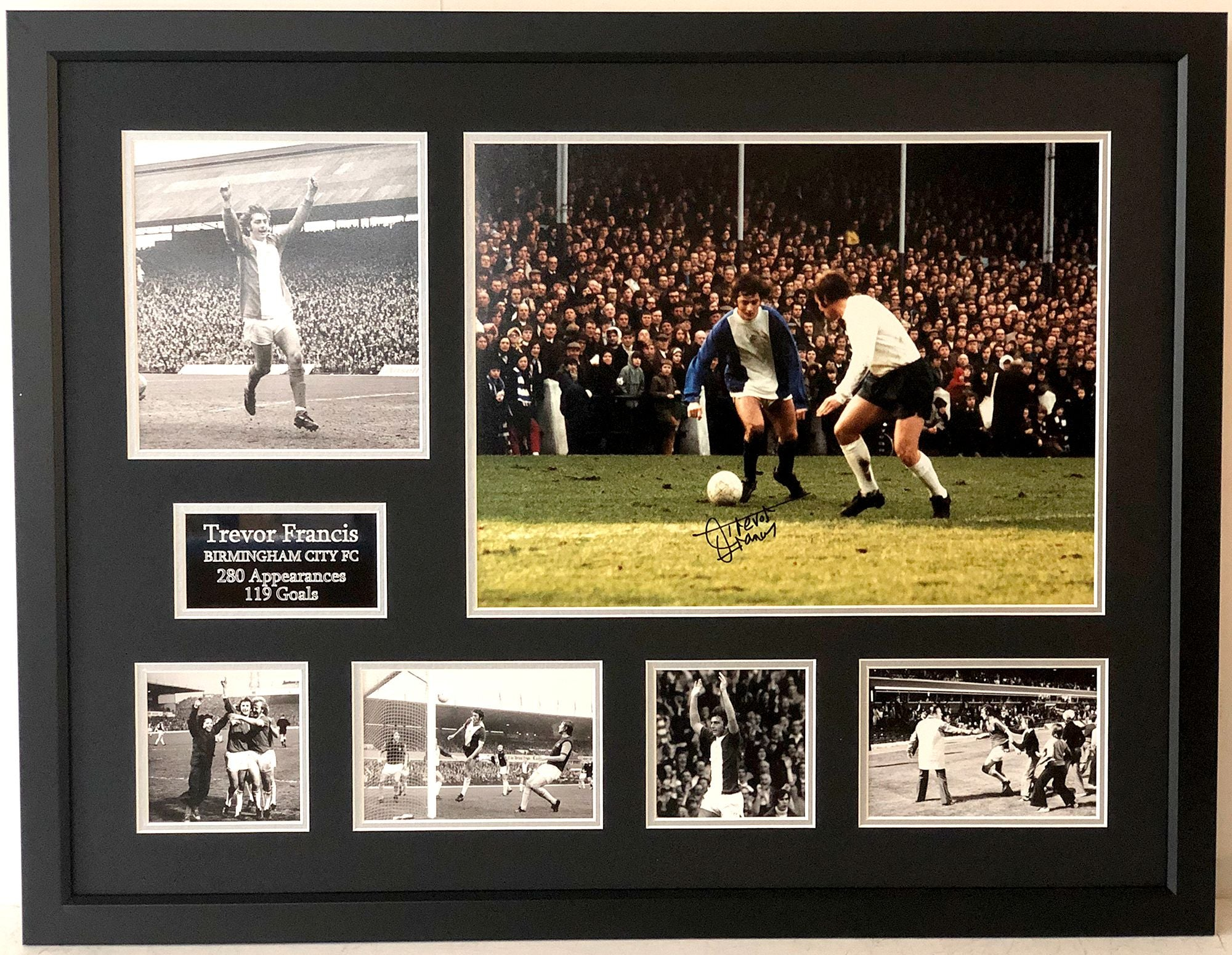 Trevor Francis Signed Birmingham City Career Frame - B