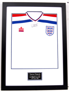 Signed and Framed Trevor Francis England Shirt (with Admiral badge)
