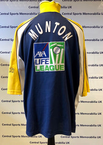Tim Munton 1997 Game Issue Warwickshire C.C.C Shirt (fully signed, all the signatures)