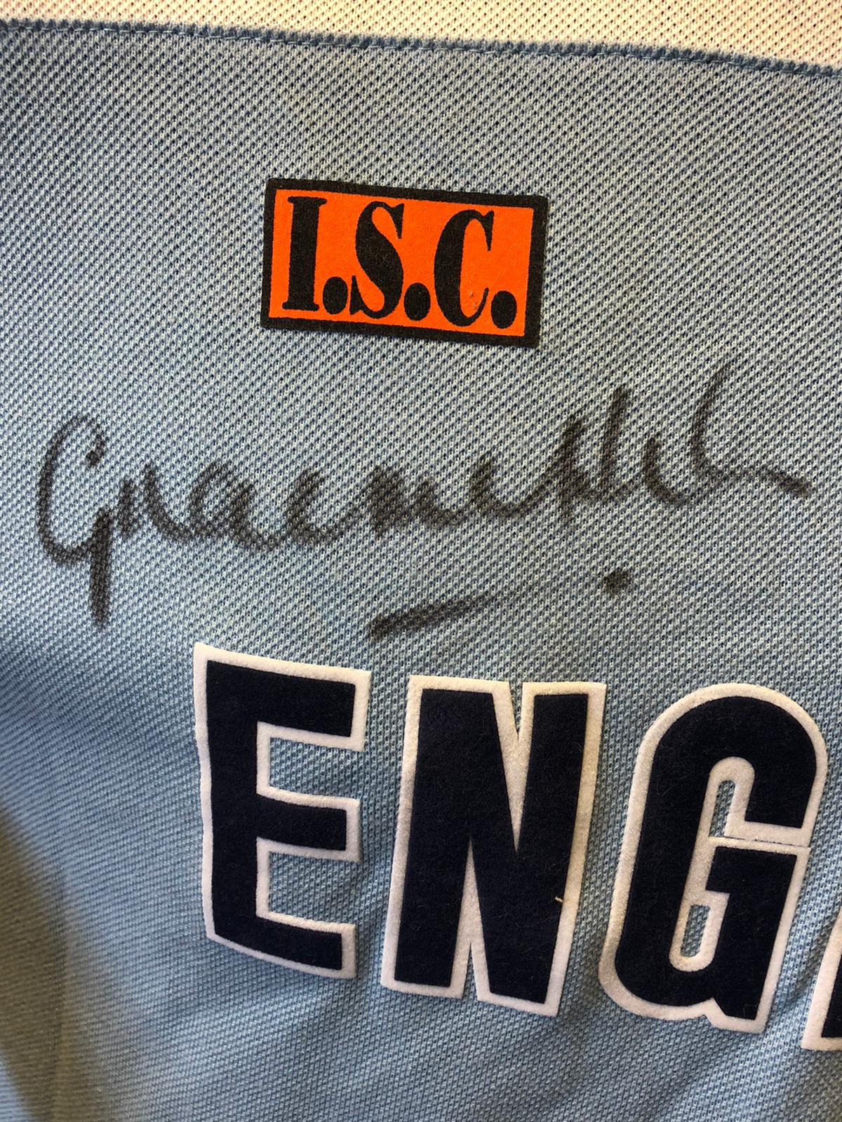 Graeme Hick, Game Worn, Hand Signed England World Cup 1992 Shirt