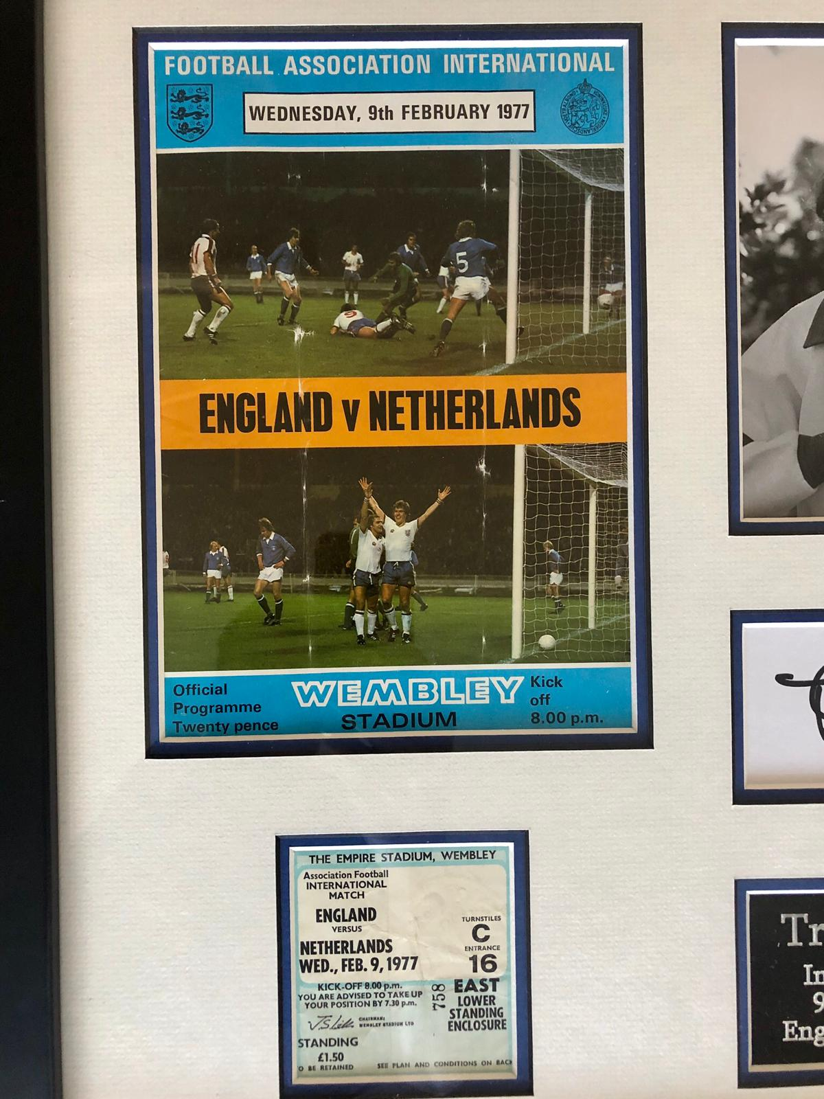 Trevor Francis Hand Signed England International Debut Frame