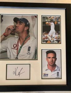 Kevin Pietersen Hand Signed Frame - England Cricket