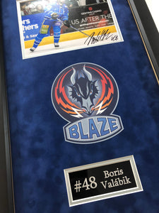 Boris Valabik Coventry Blaze Signed Frame