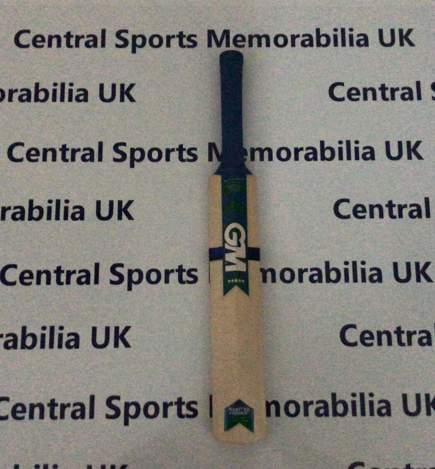 Miniature Signed Cricket Bat: Abdul Razzaq, Pakistan
