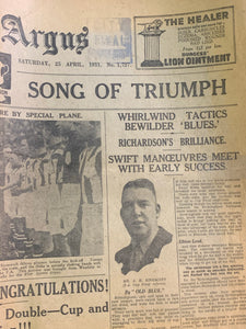 Sports Argus 25th April 1931 - Birmingham City v West Brom FA Cup Final