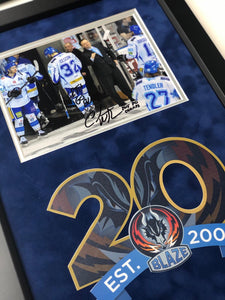 Chuck Weber Coventry Blaze Play Off Winning Coach 2015 Signed Frame