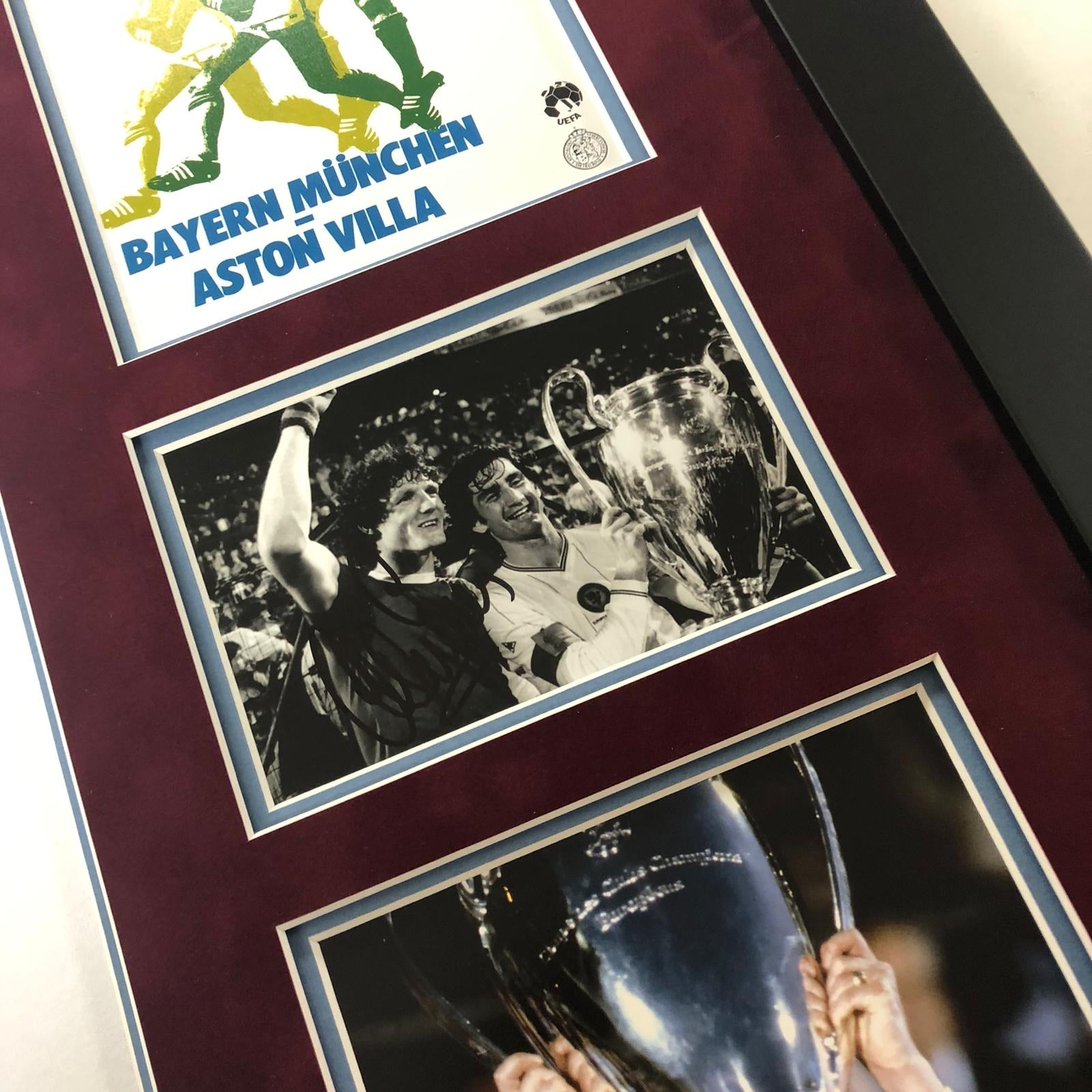 Aston Villa 1982 European Cup Frame - Signed by Peter Withe, Nigel Spink and Alan Evans