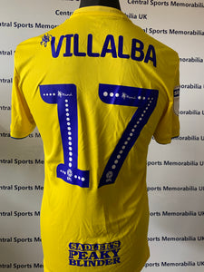 Fran Villalba Match Issue Birmingham City Shirt - Away Yellow