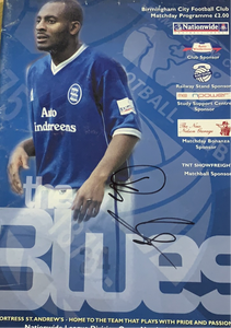 Birmingham City vs Nottingham Forest Programme 01/01/01 Signed by Dele Adebola