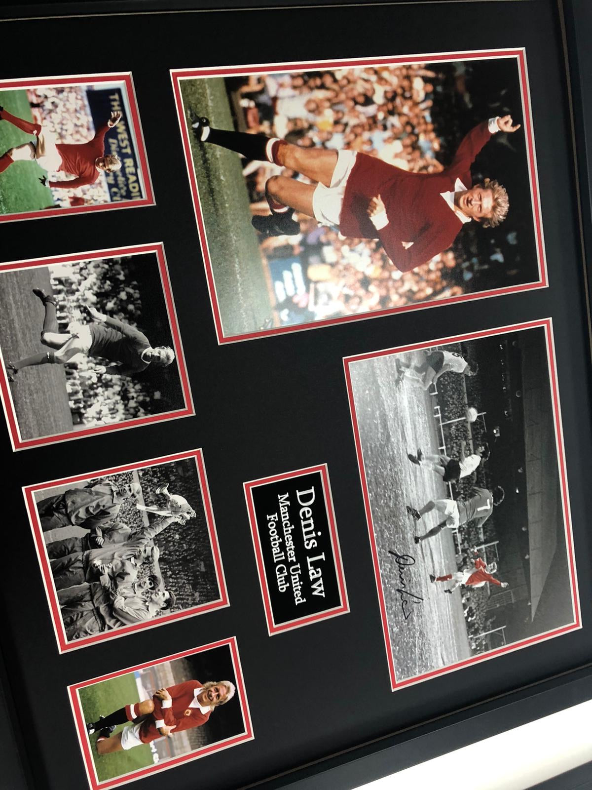 Denis Law - Manchester United Legend - Signed Frame - with COA