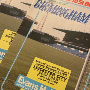 Birmingham City Programmes Home and Away - Season 1988-1989
