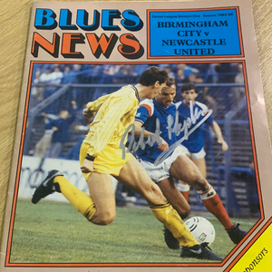 Robert Hopkins Signed Birmingham City Programmes