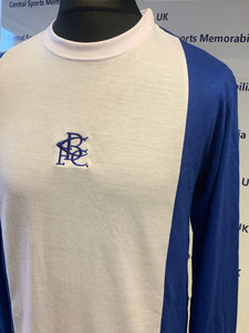 Birmingham City Retro Replica 70's Penguin Long Sleeve Shirt - All Adult Sizes - Also with signed by Trevor Francis option