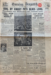Birmingham City 1956 FA Cup Final Programme and Newspaper Collection
