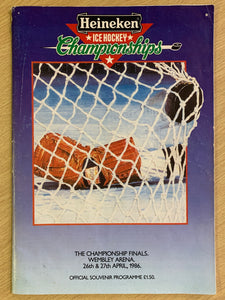 Heineken Ice Hockey Championships 1986 Weekend Programme