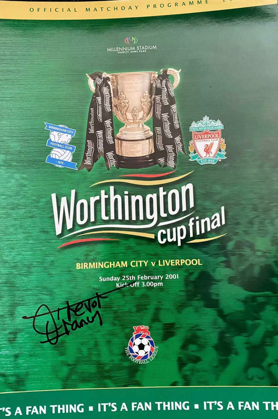 Worthington Cup Final Programme Signed by Trevor Francis