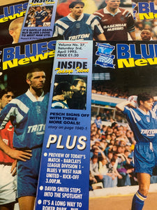 Birmingham City Programmes Home and Away - Season 1992-1993