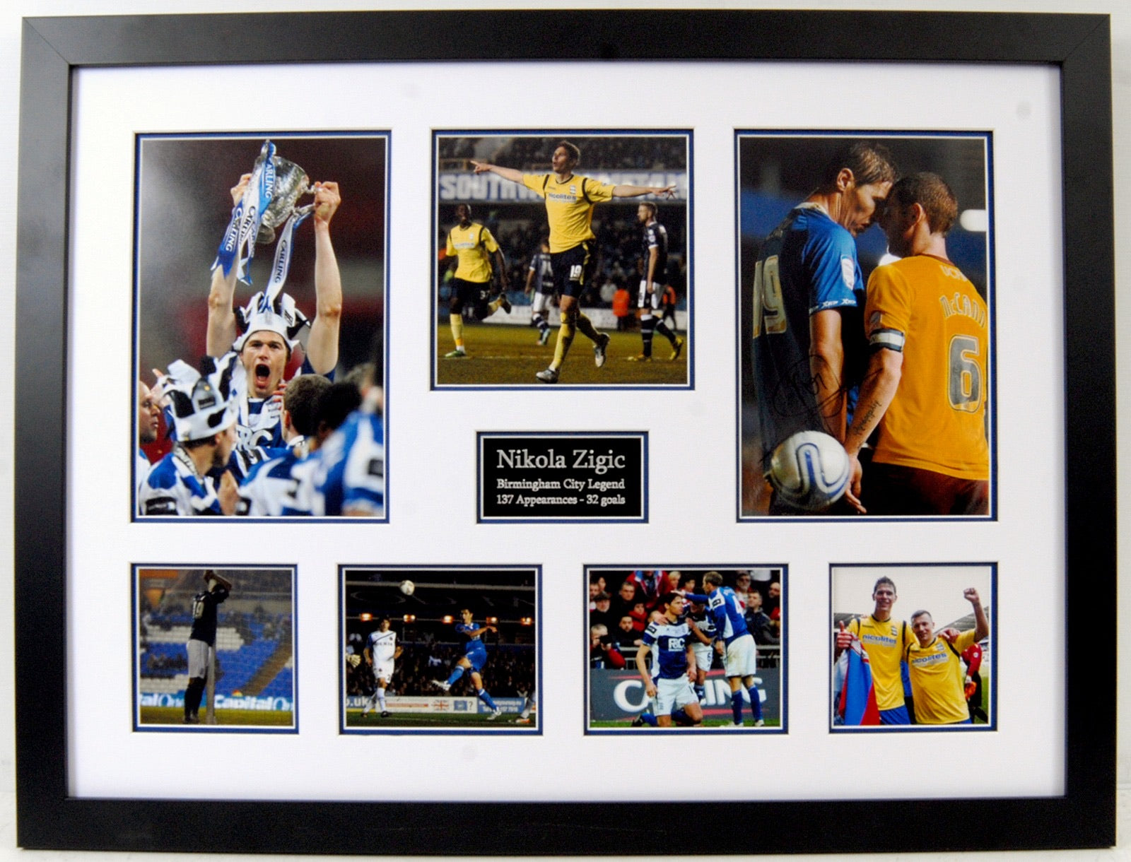 Zigic - Birmingham City Legend. Signed Frame