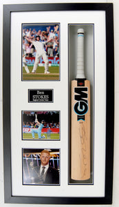Ben Stokes Signed and Framed Cricket Bat - with COA