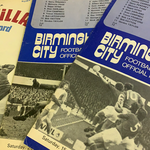Birmingham City Programmes Home and Away - Season 1971-1972