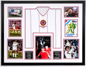 Aston Villa 1982 European Cup Frame - Signed by Peter Withe.