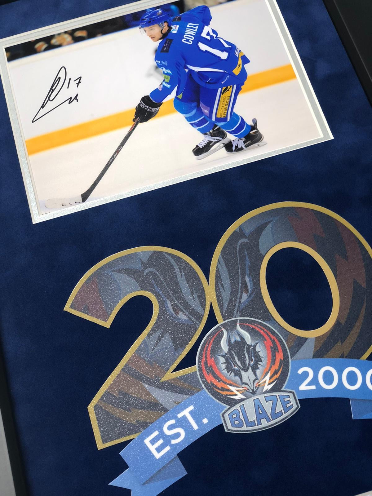 Russ Cowley Coventry Blaze Play Off Winner Signed Frame