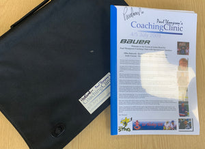 Paul Thompson 2009 Coaching Clinic Bag and Event brochure - Signed