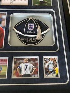 David Beckham England Legend. Personally Signed