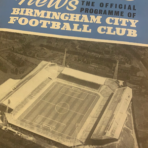 Birmingham City Programmes Home and Away - Season 1964-1965