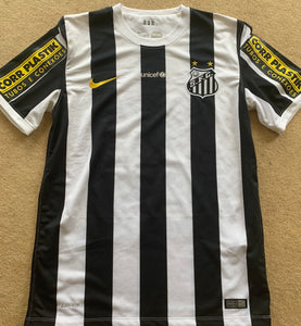 Santos Game Worn Shirt - Victor Ferraz