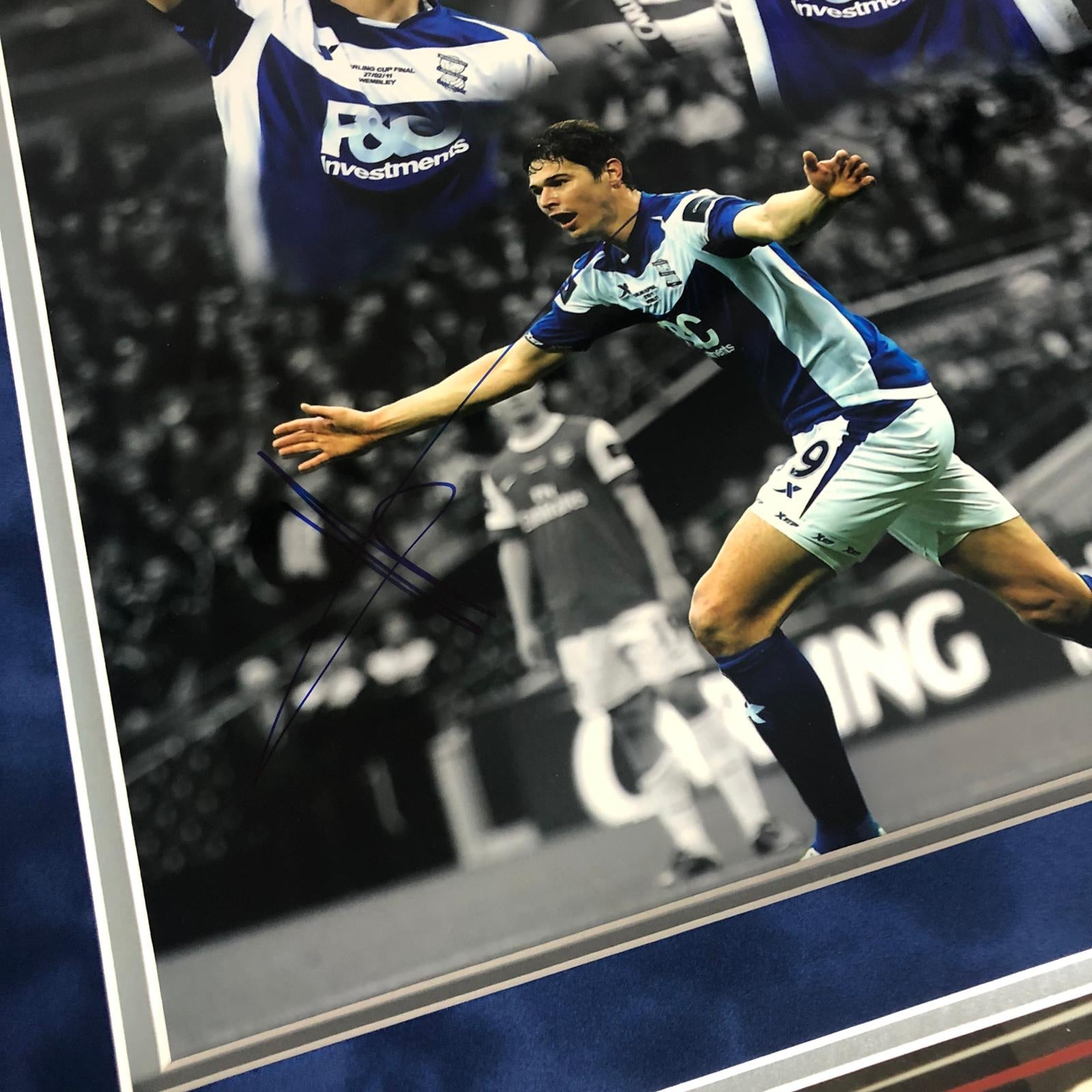 Nikola Zigic 2011 Carling Cup Winner Signed Frame