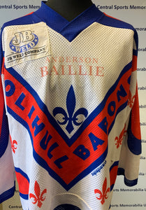 Luc Chabot Solihull Barons Game Worn and Signed Shirt, with COA - early 90s