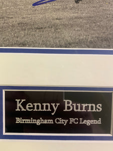 Kenny Burns Birmingham City Legend Signed Frame