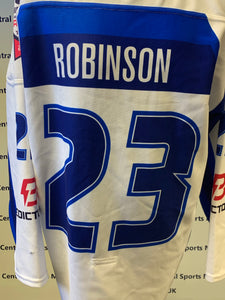Brett Robinson's Final Game Worn Shirt 2017-18