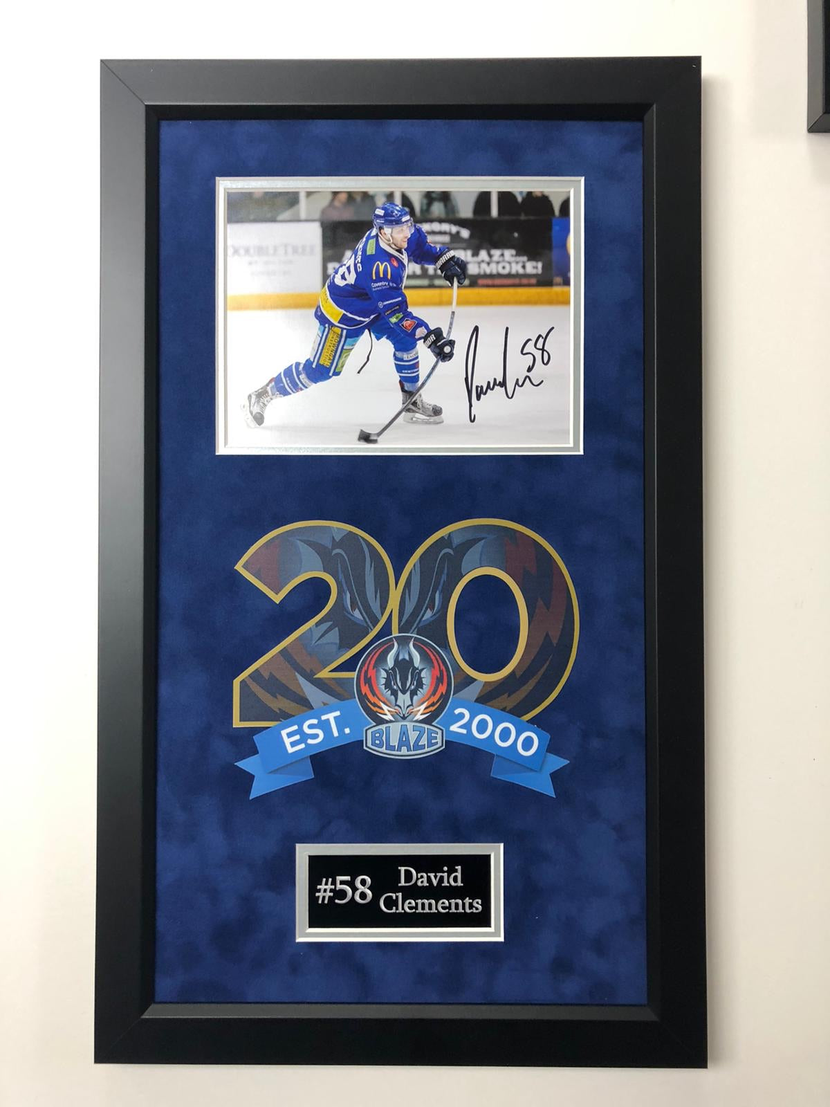 David Clements Coventry Blaze Signed Frame