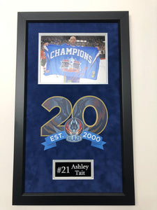 Ashley Tait Coventry Blaze Play Off Winner Signed Frame